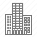 buiding, city, downtown, high rise, skyscraper icon