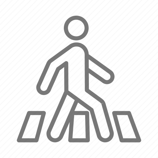 commute, crosswalk, pedestrian, walk icon
