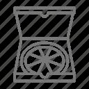 box, delivery, food, pizza icon