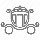 ball, carriage, cinderella, fairy tale, horse, midnight icon