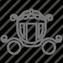 ball, carriage, cinderella, fairy tale, horse, midnight, pumpkin icon