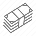 cash, dollar, stack icon