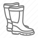 boots, fishing, galoshes, outdoor, rubber, waders, water icon