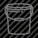 bucket, drum, mop, plastic, utliity icon