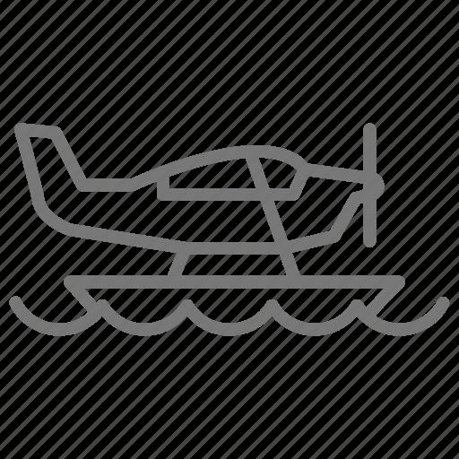airplane, float, land, ocean, plane, seaplane, water icon