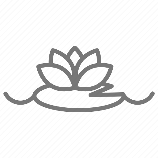 bloom, float, flower, lily, lilypad, water icon