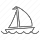 boat, float, sail, sailboat, sea, water icon