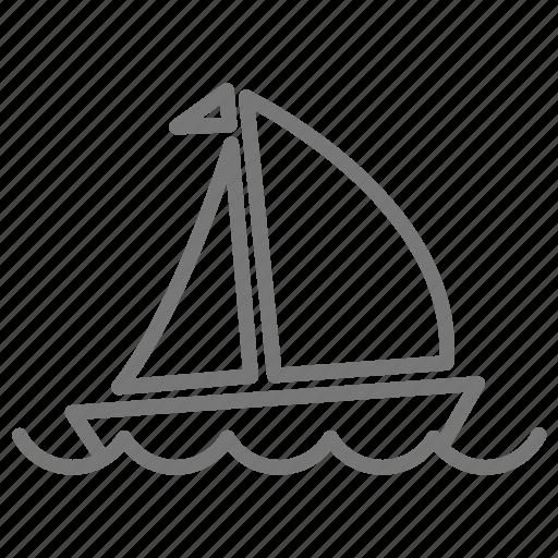 boat, float, sail, sailboat, sea, water icon