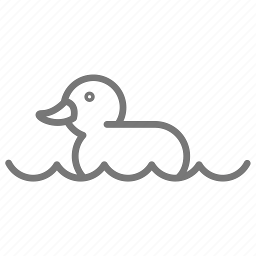 child, duck, ducky, float, rubber, toy, water icon