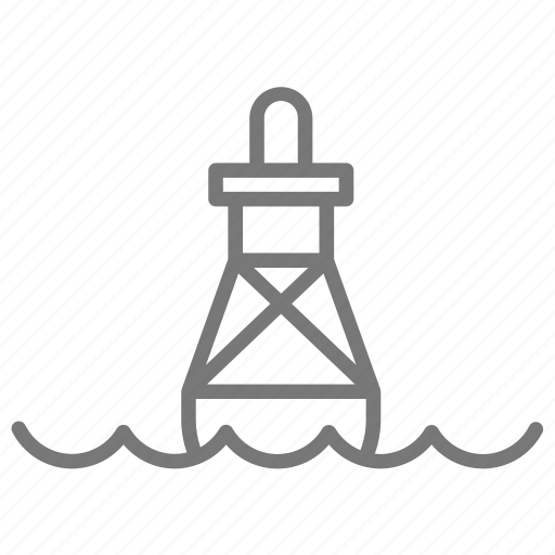 bob, dingy, float, light, sea, warning, water icon
