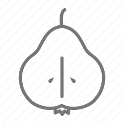 eat, food, fruit, half, healthy, pear, seed icon