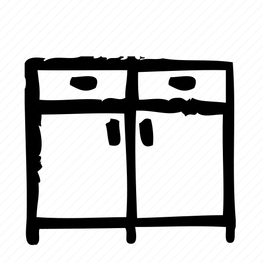 architecture, furniture, indoor, interior, sideboard icon