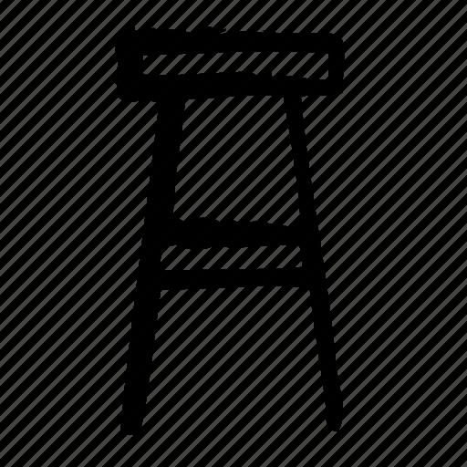 architecture, furniture, indoor, interior, stool icon