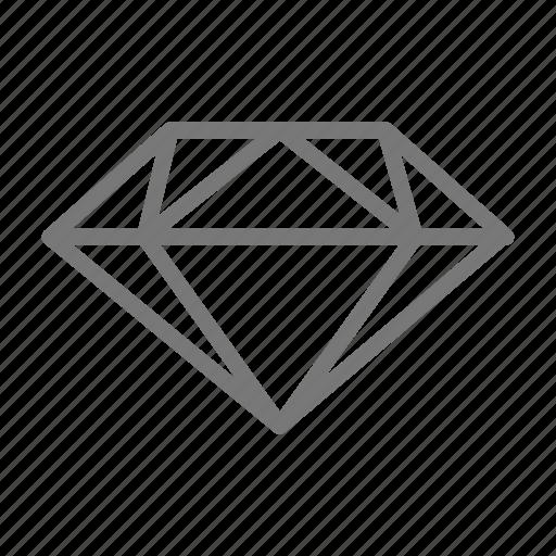 cut, diamond, engagement, gem, jewel, ring, stone icon