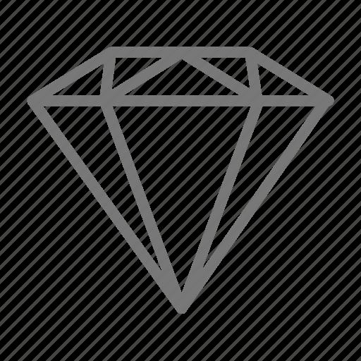 cut, diamond, engagement, gem, jewelry, ring, stone icon