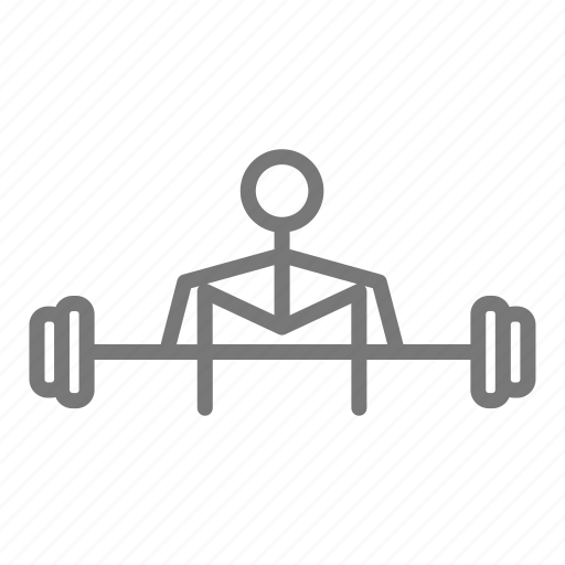 barbell, dead lift, gym, lift, sweat, weights, workout icon