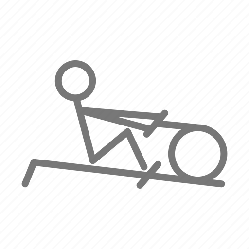 exercise, gym, machine, pull, row, rowing, workout icon