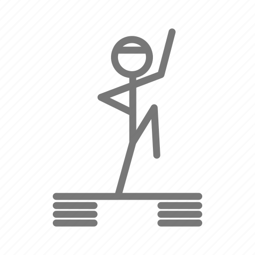 aerobic, class, fitness, gym, step, sweat, workout icon