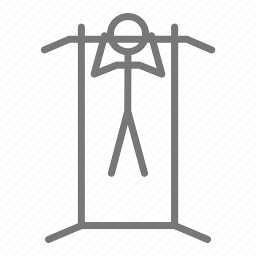 biceps, chin up, gym, health, pullup, weight, workout icon
