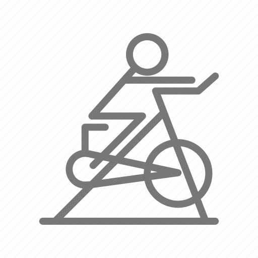 bicycle, bike, class, cycle, gym, spin, workout icon