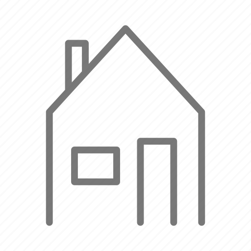 chimney, construction, door, home, house, roof, window icon