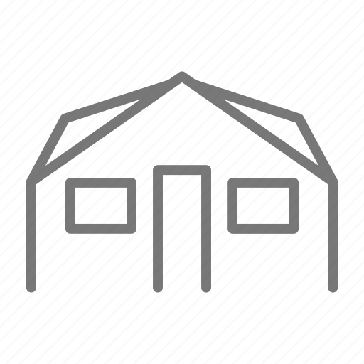 building, door, family, home, house, roof, window icon