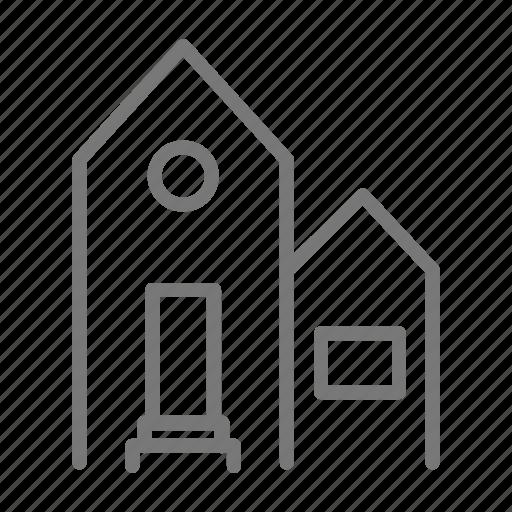door, family, home, house, property, window icon