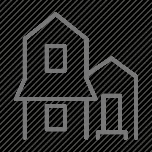 door, home, house, single, window icon