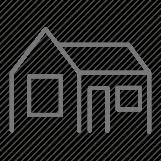 door, family, home, house, property, single, window icon