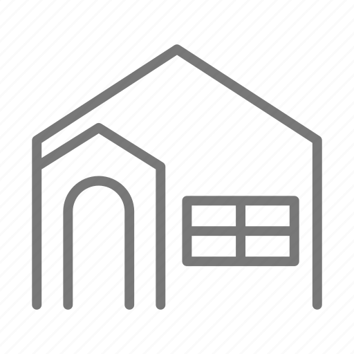 arch, door, family, home, house, property, window icon