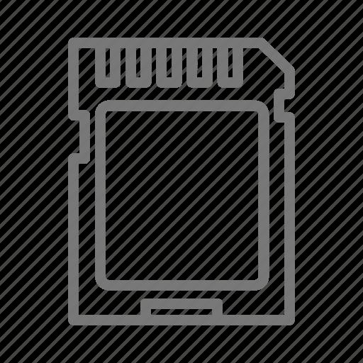 card, data, digital, gig, photo, sd, storage icon