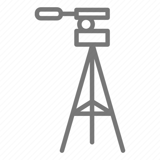 camera, exposure, lens, long, photo, stand, tripod icon