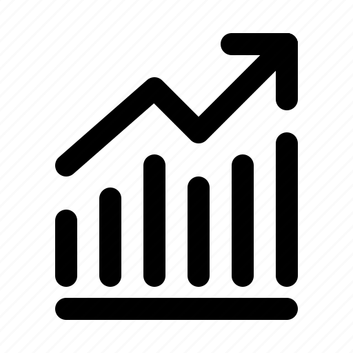 analytics, chart, finance, graph, growth, revenue, stock icon