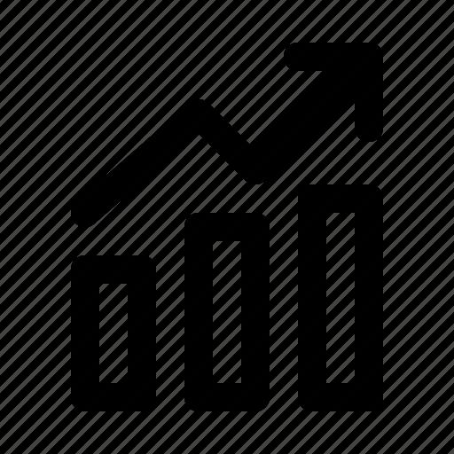 analytics, chart, finance, graph, growth, revenue, stock icon