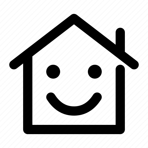 building, emoticon, happy, home, house, smile, smiley icon