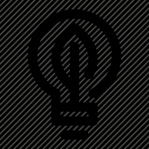 eco, energy, green, light, light bulb icon