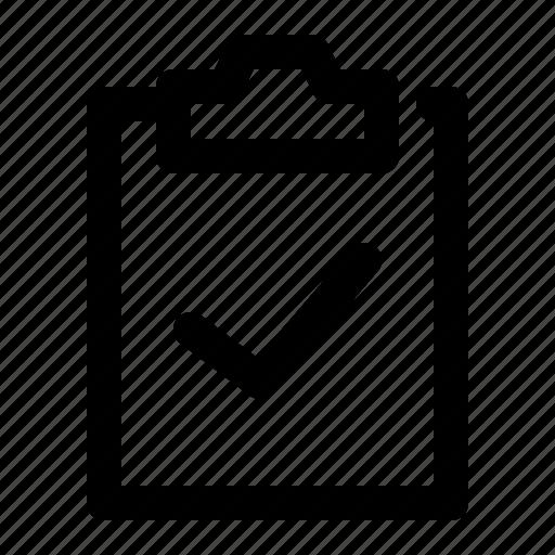 approve, check, clipboard, mark, verify icon
