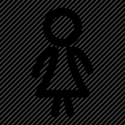 figure, human, woman icon