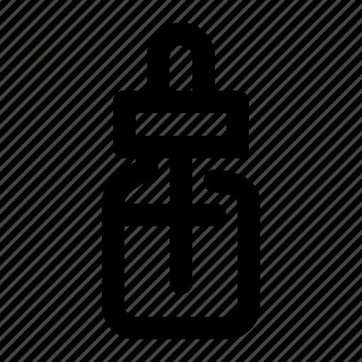 bottle, dropper, e-liquid, vape icon