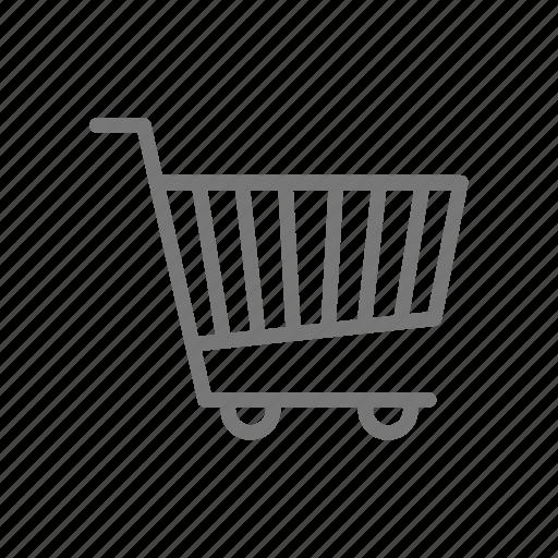 basket, cart, market, shop, store, wheels icon