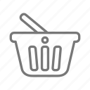 basket, items, purchase, shop, store icon