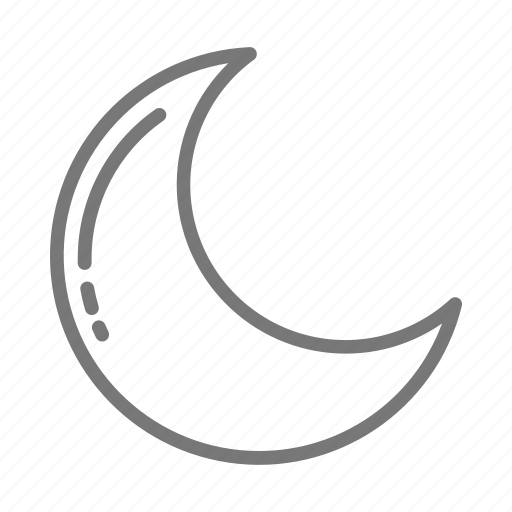 cresent, moon, night, space icon
