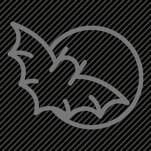 bat, halloween, moon, night, spooky icon