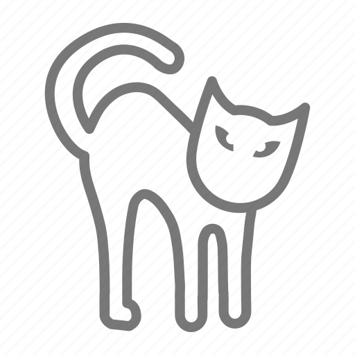 black cat, cat, halloween, scary, spooky icon