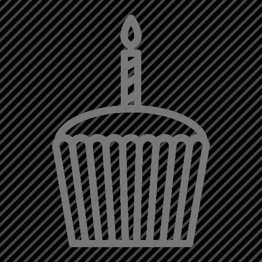 birthday, cake, candle, cupcake, dessert icon