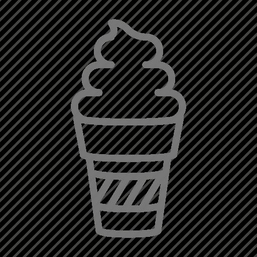 cone, dessert, frozen, ice cream, icecream, soft serve icon
