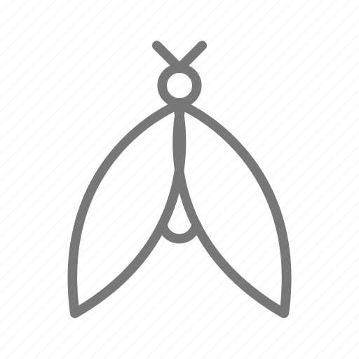 bug, eco, fly, insect, moth, wings icon