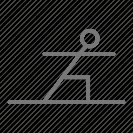 Warrior, yoga, stretch, workout, health, practice, pose icon