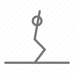 body, chair, exercise, pilates, stretch, workout, yoga icon