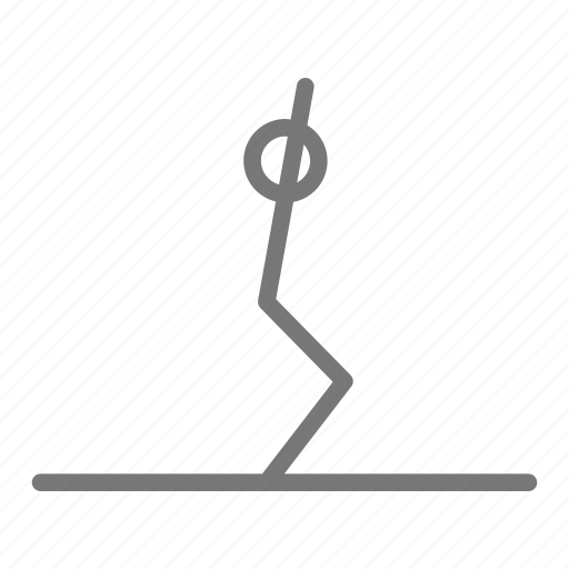 chair, exercise, pose, practice, stretch, workout, yoga icon